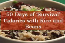 50 Days of 'Survival' Calories with Rice and Beans