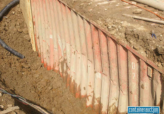 burying shipping container picture 2