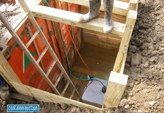 burying shipping container picture 3