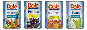 Prepper stockpile Dole-Canned