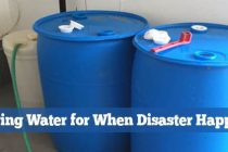 Storing Water for When Disaster Happens