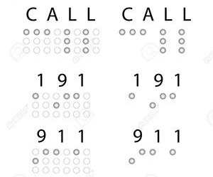 a braille communication card