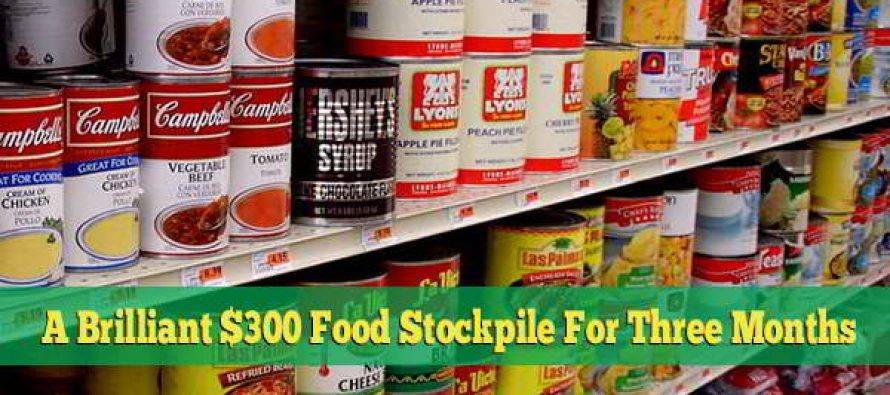 A Brilliant $300 Food Stockpile for 3 Months