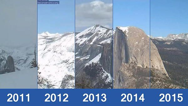california drought montains