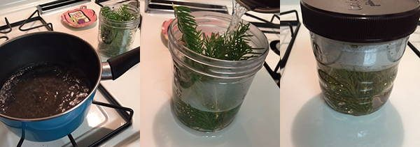 how to make pine syrup step 2