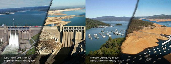 lake folsom-oroville california drought