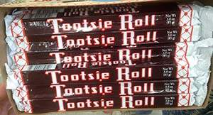 Tootsie Rolls or PAYDAY Bars
