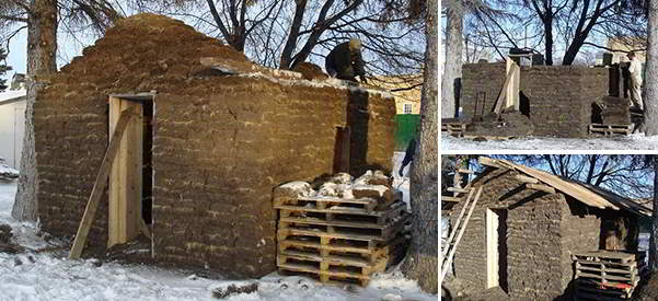 Build sod house model