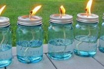 How To Make Survival Lamps With Used Cooking Oil and Mason Jars