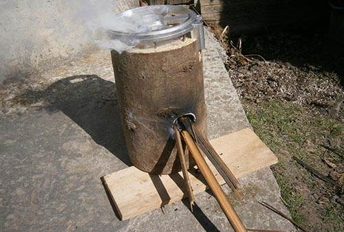 1 log stove rocket stove