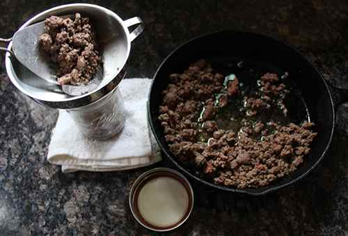 Loading Ground Beef into Canning Jars