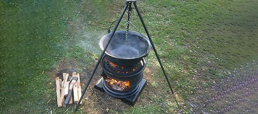 DIY Stove Made From Used Tire Rims