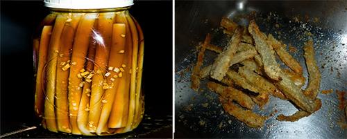 burdock pickles + burdock chips