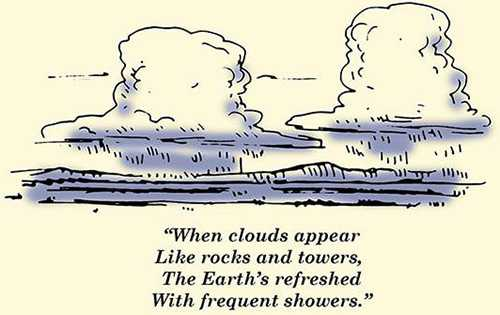 clouds weather proverb