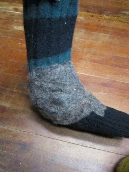 sock for boot snug