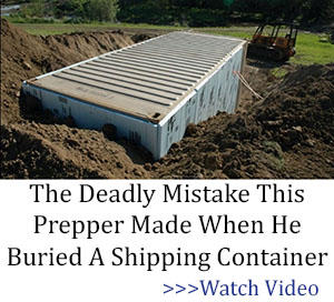The Deadly Mistake This Prepper Made When He Buried A Shipping Container