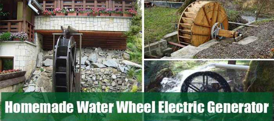 Homemade Water Wheel Electric Generator Ask A Prepper