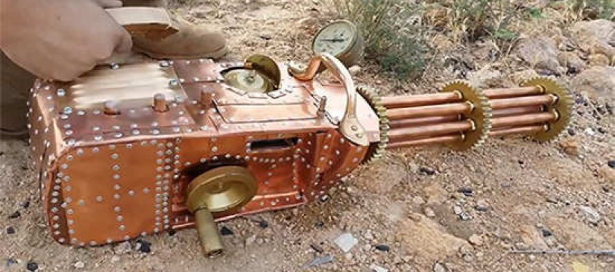 Homemade .22 Cal Steampunk Gatling Gun