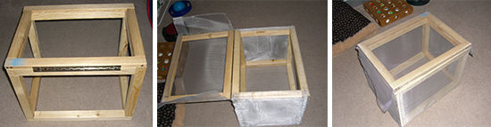 Faraday cage steps aluminum