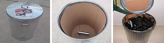Trash can Faraday Cage