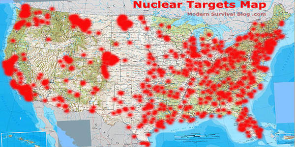 US Nuclear Target Map - Ask a Prepper