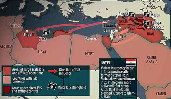 isis map expanding