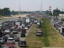 traffic jam katrina