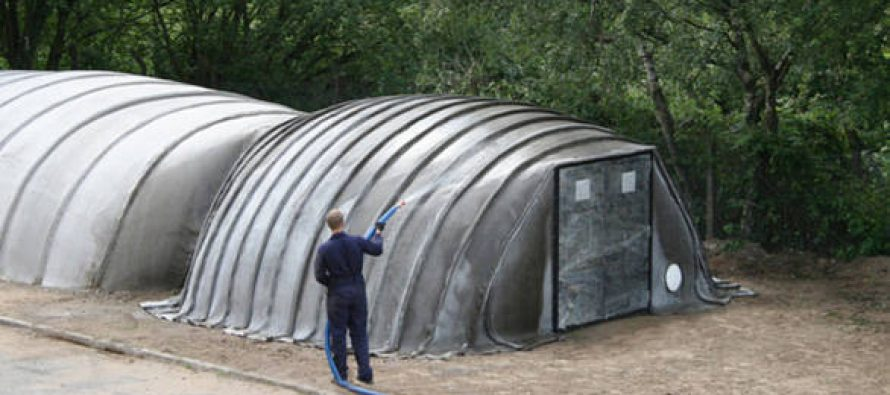 Tents That Turn Into Bunkers if You Just Add Water