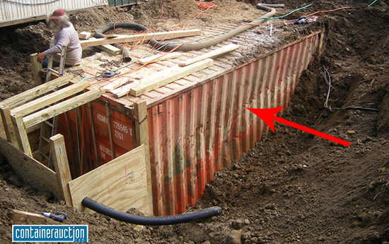 burying shipping container picture 1