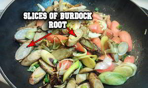 slices of Burdock root
