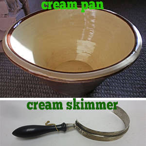 cream pan and cream skimmer