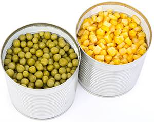 Canned foods are loaded with preservatives