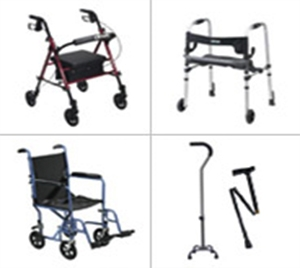 walkers, crutches and other mobility devices