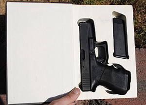 gun in book