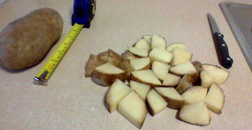 Chop Potatoes How To Make Potato Flakes
