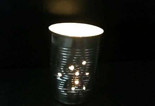 candle holder tin can