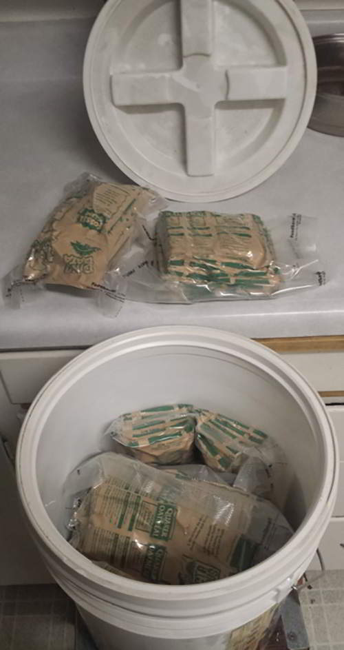inside the ten yeard old bucket of oatmeal 2