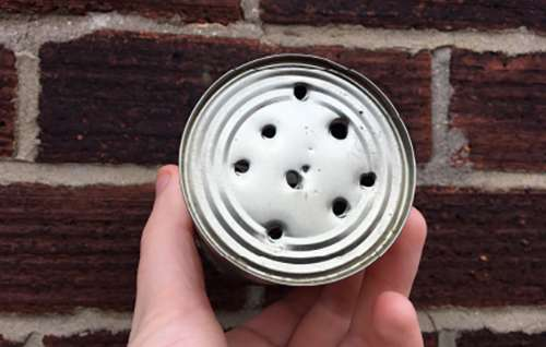 showerhead tin can
