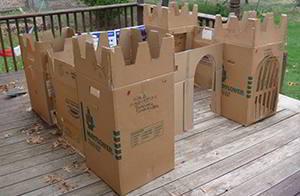 reuse cardboard-castle