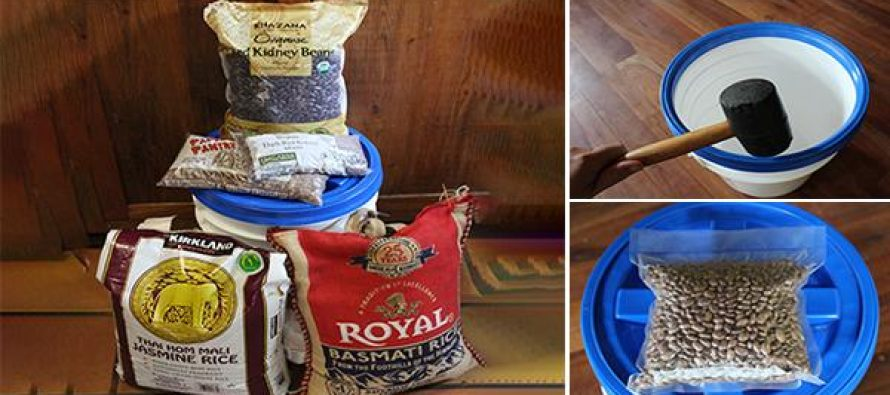 DIY $20 Survival Food Bucket
