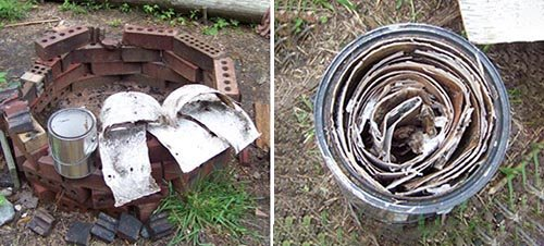 3. barkstrips How To Make Fuel From Birch Tar