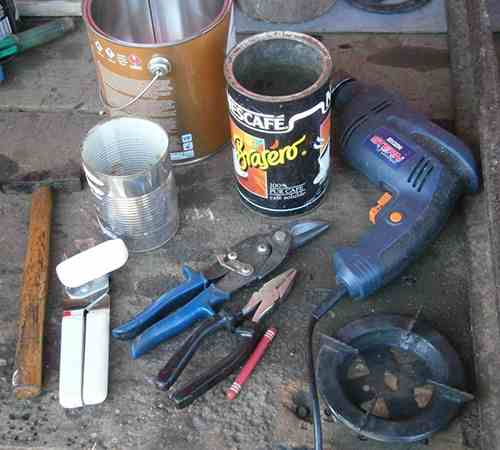 materials needed rocket stove