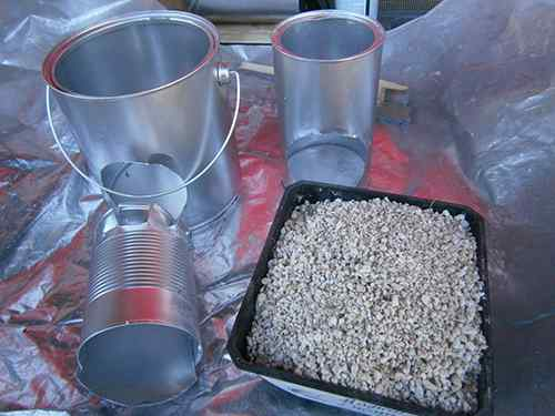 tin can rocket stove materials