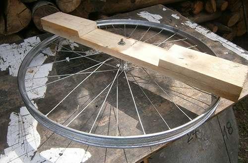 bike wheel frame for solar stove