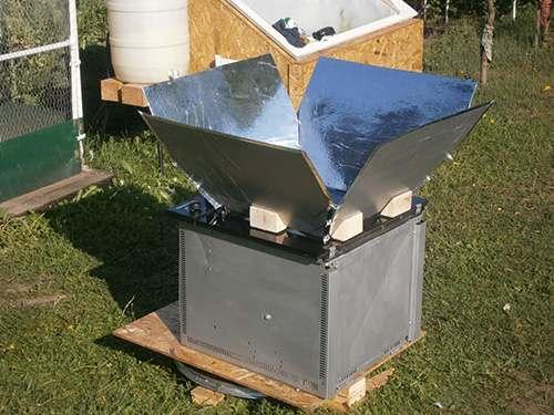 finished solar stove
