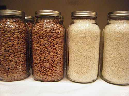 dried beans and rice
