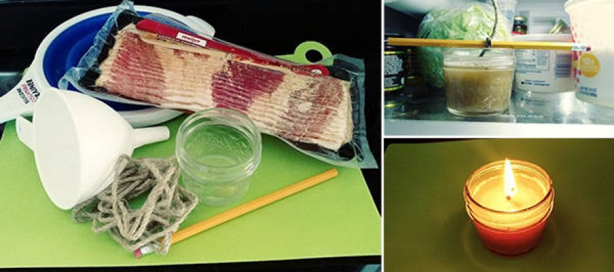 How To Make a Bacon Grease Survival Candle