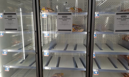 Are Store Shelves Empty in Your Area Too?