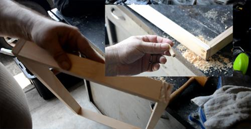 Making Your Own Toilet Paper - Frame Nails