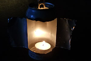 DIY Candle Lantern From A Soda Can